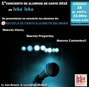 Primer Concierto Escuela de Canto ELIZABETH DOLINSKA