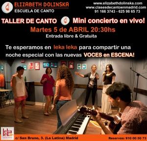 Taller 5 de Canto & Mini Concierto