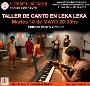 Taller de canto en Leka Leka