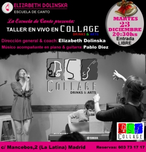 TALLER EN VIVO EN COLLAGE